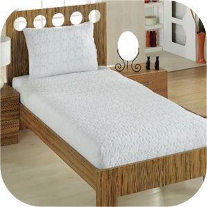 Jacquard Terry Fitted Bed Sheets