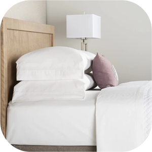 Percale Fabric Fitted Bed Sheets