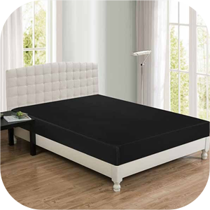 Water Proof Black Fitted Bed Sheet