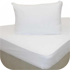 Spinning White bed sheets and pillow